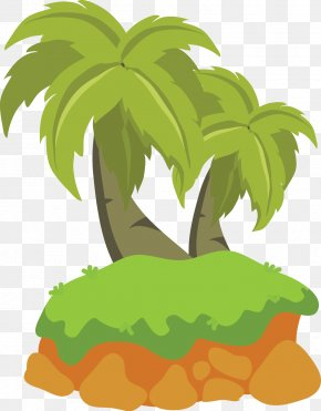 Vector Cartoon Green Coconut Tree - Tree Arecaceae Euclidean Vector Animation PNG