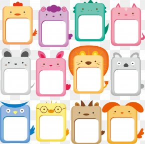 Cute Animals Collection Frame - Drawing Animal Clip Art PNG