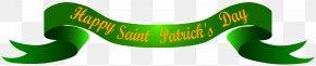Happy Saint Patrick's Banner Transparent Clip Art Image - Saint Patrick's Day Clip Art PNG