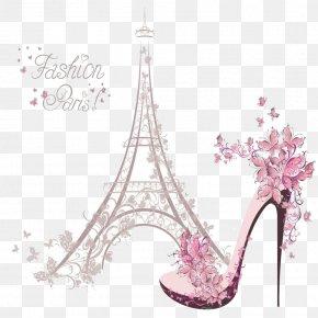 Eiffel Tower - Eiffel Tower Fashion Illustration Drawing PNG