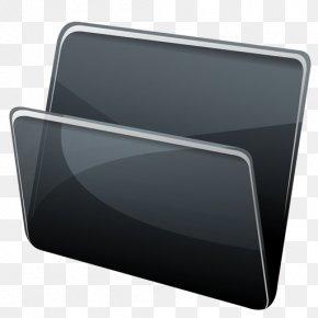 Black Folder - Directory ICO Dock Icon PNG
