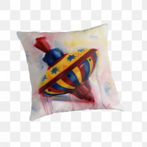Spinning Top - Throw Pillows Cushion Textile Rectangle PNG