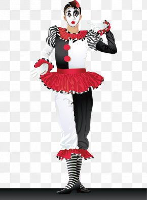 Clown - Joker Harlequin Pierrot Clown Costume PNG