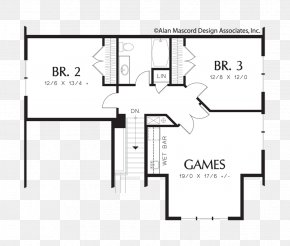 A Roommate On The Upper Floor - Floor Plan House Plan PNG