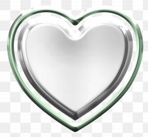 Silver Heart - Heart Information PNG