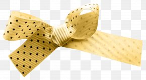 Ribbon Bow - Yellow Ribbon Shoelace Knot Necktie PNG