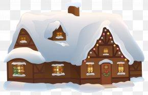 Christmas House Transparent Clip Art Image PNG