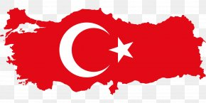 Map - Flag Of Turkey Map National Flag PNG