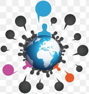 People Dialog Box - Social Media Marketing Flyer PNG