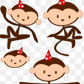 Monkey - Monkey Chimpanzee Ape Primate Clip Art PNG