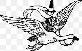 Mother Goose Beak Bird - Mother Goose Clip Art Line Art Drawing PNG
