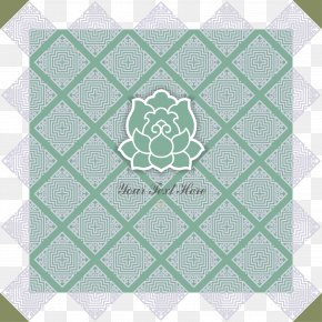 Decorative Light Blue Lotus Pattern - Blue Green Pattern PNG