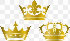 Gold Crown Lovely Vector Material - Crown Silk Wedding Dress Textile PNG