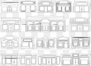 Black Door Cliparts - Facade Royalty-free Clip Art PNG