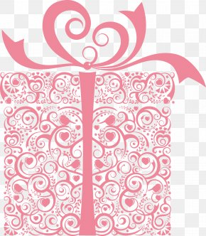 Pink Gift Box - Gift Card Valentine's Day Paper Christmas PNG