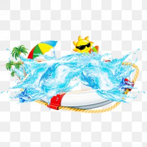 Great Beach - Summer Beach Poster Clip Art PNG