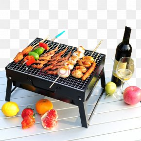 Fruits And Barbecue Grill - Barbecue Kebab Satay Portable Stove Grilling PNG