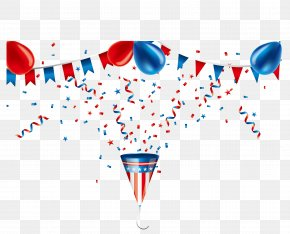 Celebrate Balloons Vector Material - Party Popper Ribbon PNG