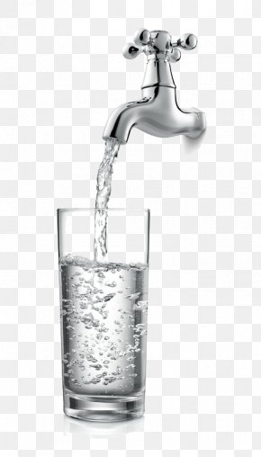 Faucet And Cup - Tap Water Drinking Water PNG