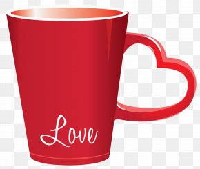 Red Valentine Love Cup PNG Clipart Picture - Cup Valentine's Day Heart Clip Art PNG