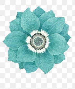 Green Flower Pattern - Flower Blue Sky Blue Version2016 Green PNG
