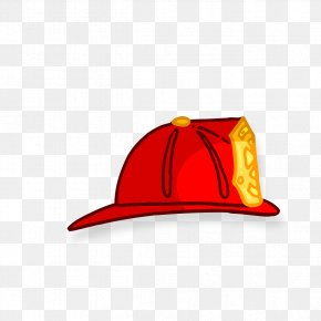 Hand-painted Red Hat - Firefighter Fire Engine Euclidean Vector Conflagration PNG