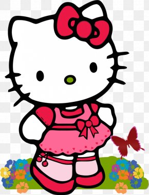 Kitty Hawk Cliparts - Hello Kitty Cartoon Character Clip Art PNG