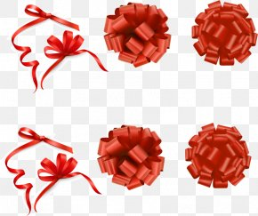 Chinese New Year Festive Element Vector Material - Gift Wrapping Ribbon Clip Art PNG