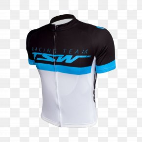 T-shirt - T-shirt White Cycling Jersey Sleeve PNG