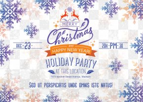 Merry Christmas Poster Design - Poster Christmas New Year PNG