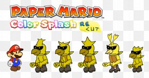 Yellow Colour Splash - Captain Toad: Treasure Tracker Super Mario 3D Land Paper Mario: Color Splash PNG