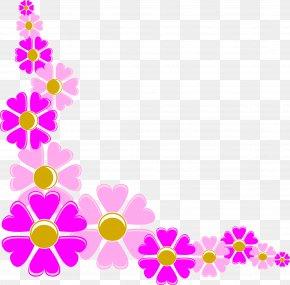 Flower Corner Cliparts - Borders And Frames Flower Picture Frames Clip Art PNG