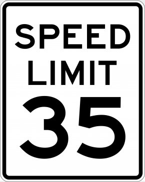 Road - Speed Limit Traffic Sign Warning Sign Manual On Uniform Traffic Control Devices PNG