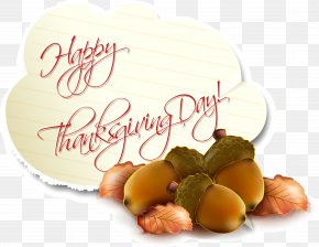 Acorn Thanksgiving Happy Card Vector - Thanksgiving Birthday Holiday Greeting Card PNG