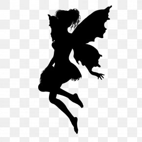 Silhouettes - Silhouette Fairy Clip Art PNG