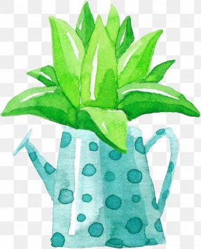 Hand-painted Aloe Vera Potted - Aloe Vera Euclidean Vector Plant PNG