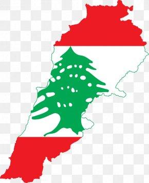 Map - Flag Of Lebanon Map National Flag PNG