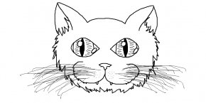 Cat Face Template - Cat Kitten Drawing Coloring Book Clip Art PNG