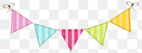 Pink Triangle - Birthday Party Background PNG