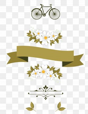Vector Floral Ribbon - Euclidean Vector Flower Adobe Illustrator PNG