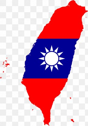 Taiwan - Taiwan Map Flag Of The Republic Of China National Flag PNG