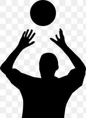 Handball - Beach Volleyball Silhouette Clip Art PNG