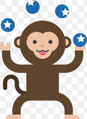 Circus Monkey - Monkey Circus Clip Art PNG