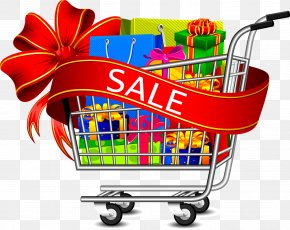 Supermarket Shopping Cart - Shopping Cart Online Shopping Icon PNG