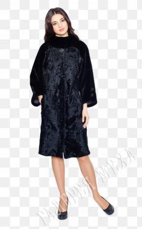 Fur Coat - Little Black Dress Fur Clothing Formal Wear PNG