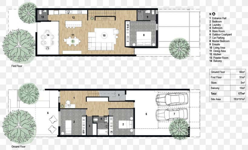 Floor Plan Architecture Terraced House