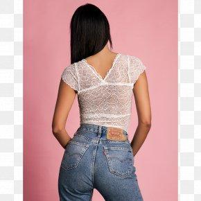 Jeans - Waist Jeans Denim Sleeve Blouse PNG