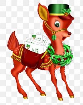 Red Deer - Rudolph Christmas Clip Art PNG