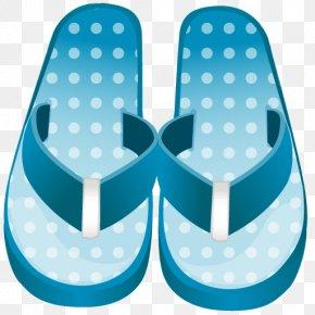 Flip Flop - Blue Aqua Font PNG