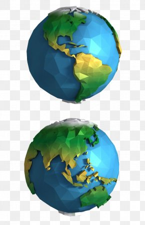 Low Poly 3d Model Of Earth - Earth Polygon 3D Computer Graphics Geometry Low Poly PNG